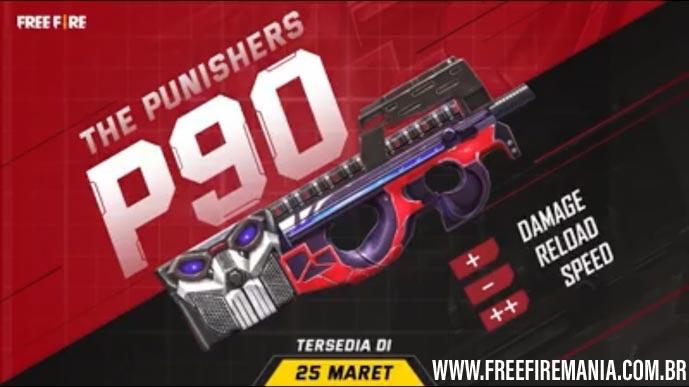 Novo Arma Royale: P90 Vingadores no Free Fire