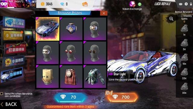 Novo Carro Royale - Luz Estelar