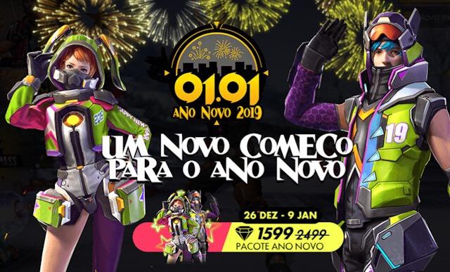 Novo Conjunto de Ano Novo 2019 - Grátis!
