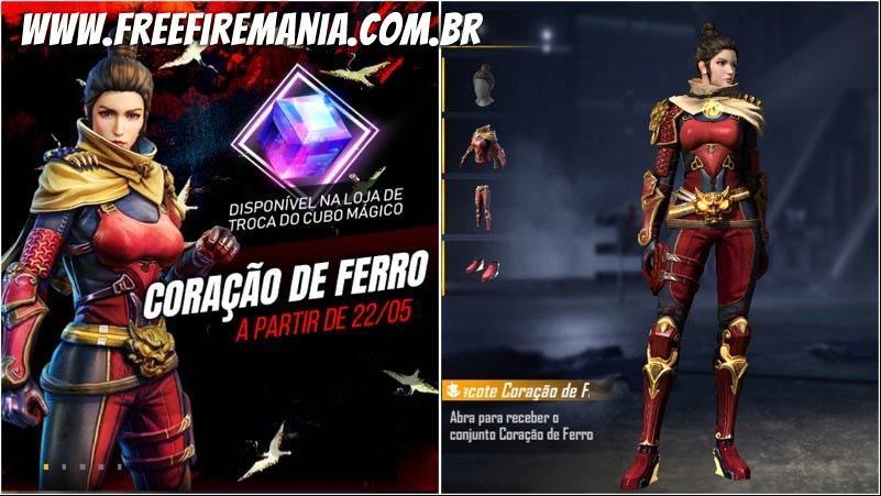 Novo Cubo Mágico Coração de Ferro disponível no Free Fire