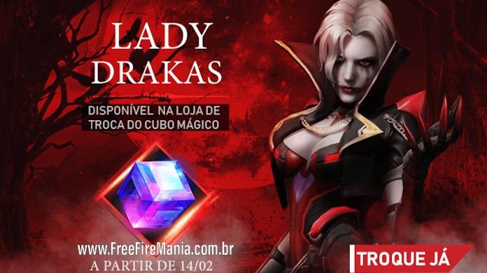 Novo Cubo Mágico Lady Drakas no Free Fire