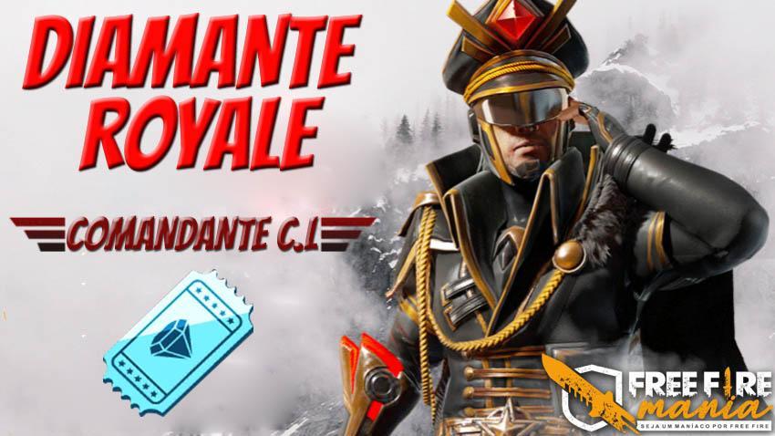 Novo Diamante Royale Comandante C.L. no Free Fire