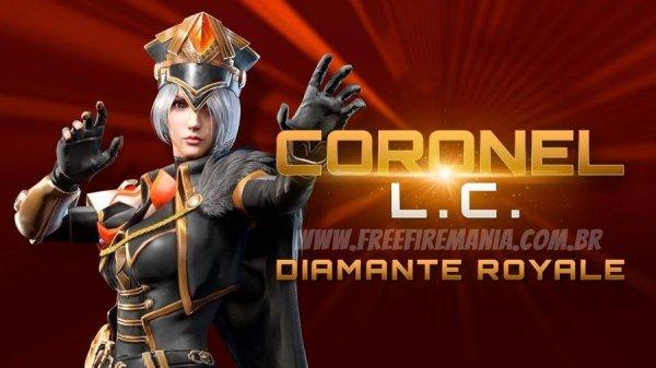 Novo Diamante Royale Coronel LC no Free Fire