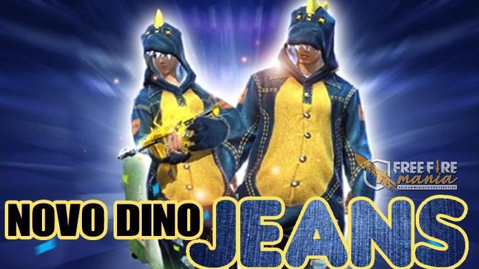 Novo Dino Jeans chega em 12 de Junho ao Free Fire no Brasil