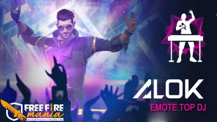 Novo Emote do Alok - TOP DJ no Free Fire