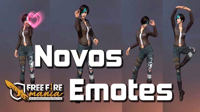 Novo Emotes na Atualização OB20 do Free fire