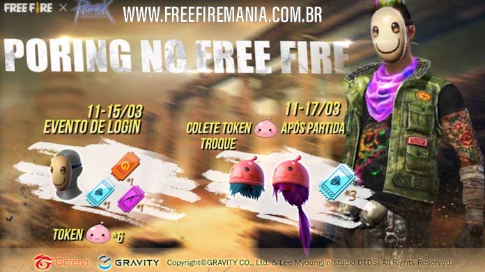 Novo evento com o Pet Poring no Free Fire