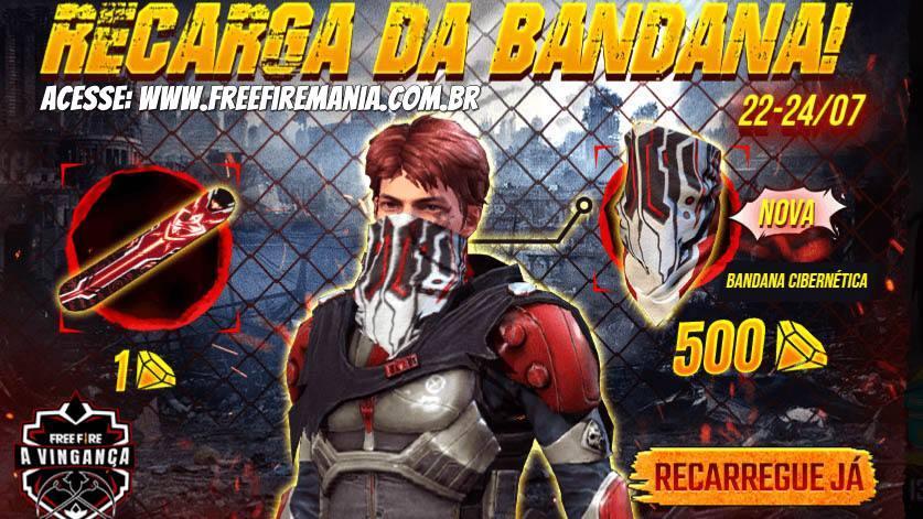 Novo evento da Recarga da Bandana chega ao Free Fire
