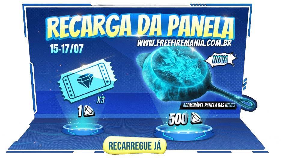 Novo evento de Diamantes com a Recarga da Panela