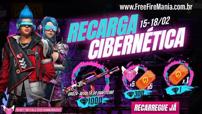 Novo Evento de Recarga Cibernética no Free Fire
