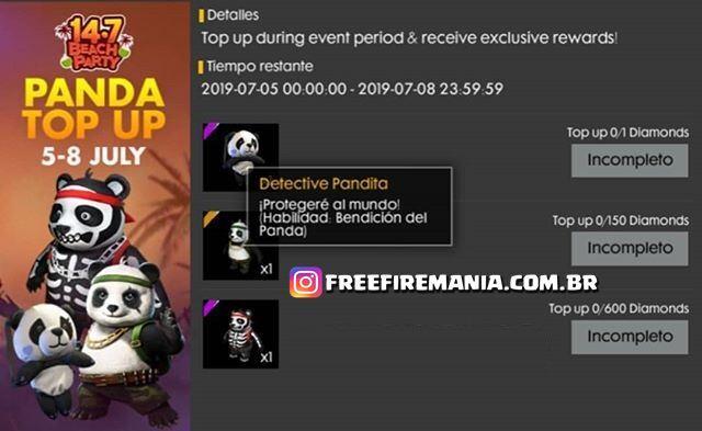 Novo Evento de Recarga - Ganhe o Novo Pet Panda!