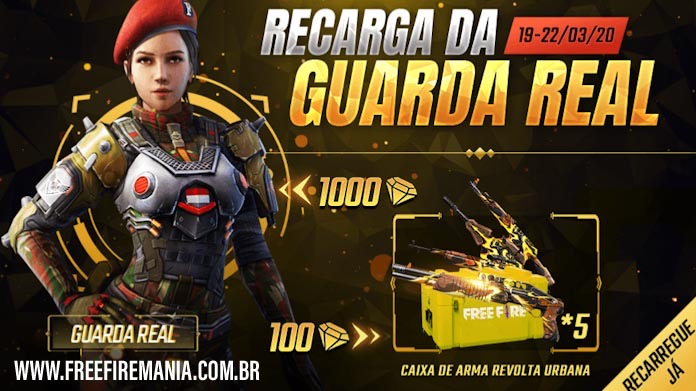 Novo evento de Recarga no Free Fire: Guarda Real
