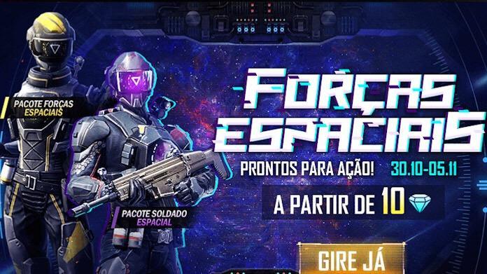 Novo Evento Forças Espaciais no Free Fire