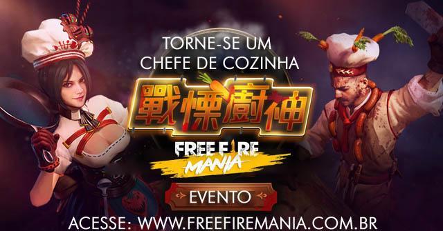 Novo Evento - Torne-se um Chef de Cozinha no Free Fire