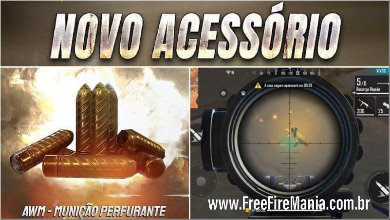 Novo item AWM Munição Perfurante no Free Fire
