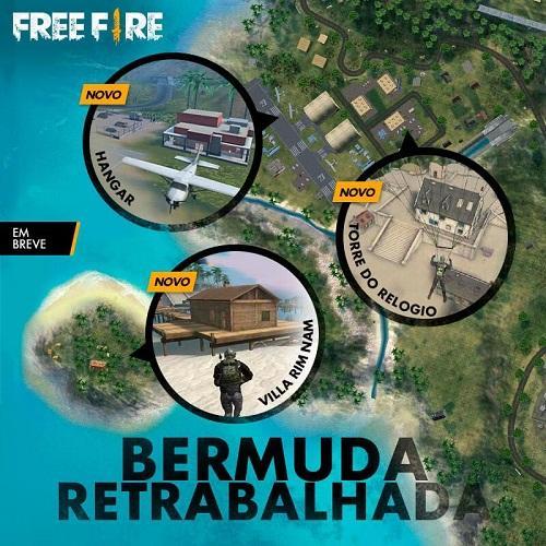 Novo Mapa Bermuda - Atualização Free Fire