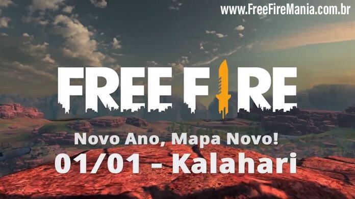 Novo Mapa Kalahari chegando em 01 de Janeiro ao Free Fire