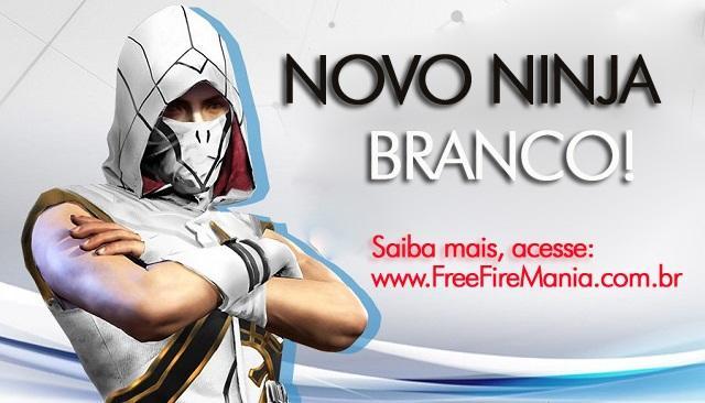 Novo Ninja Branco no Free Fire