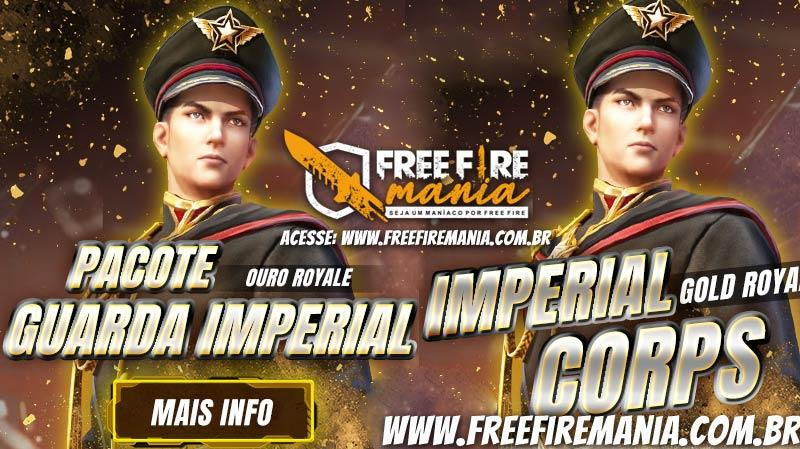 Novo Ouro Royale Guarda Imperial no Free Fire