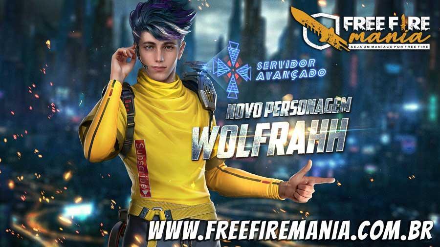 Novo personagem Wolfrahh no Free Fire