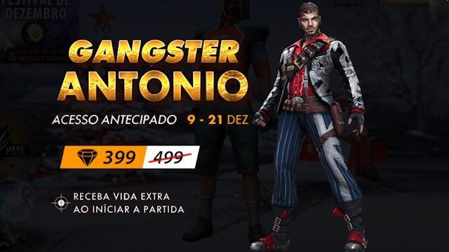 Novo Personagem Antonio na Loja por 399 Diamantes
