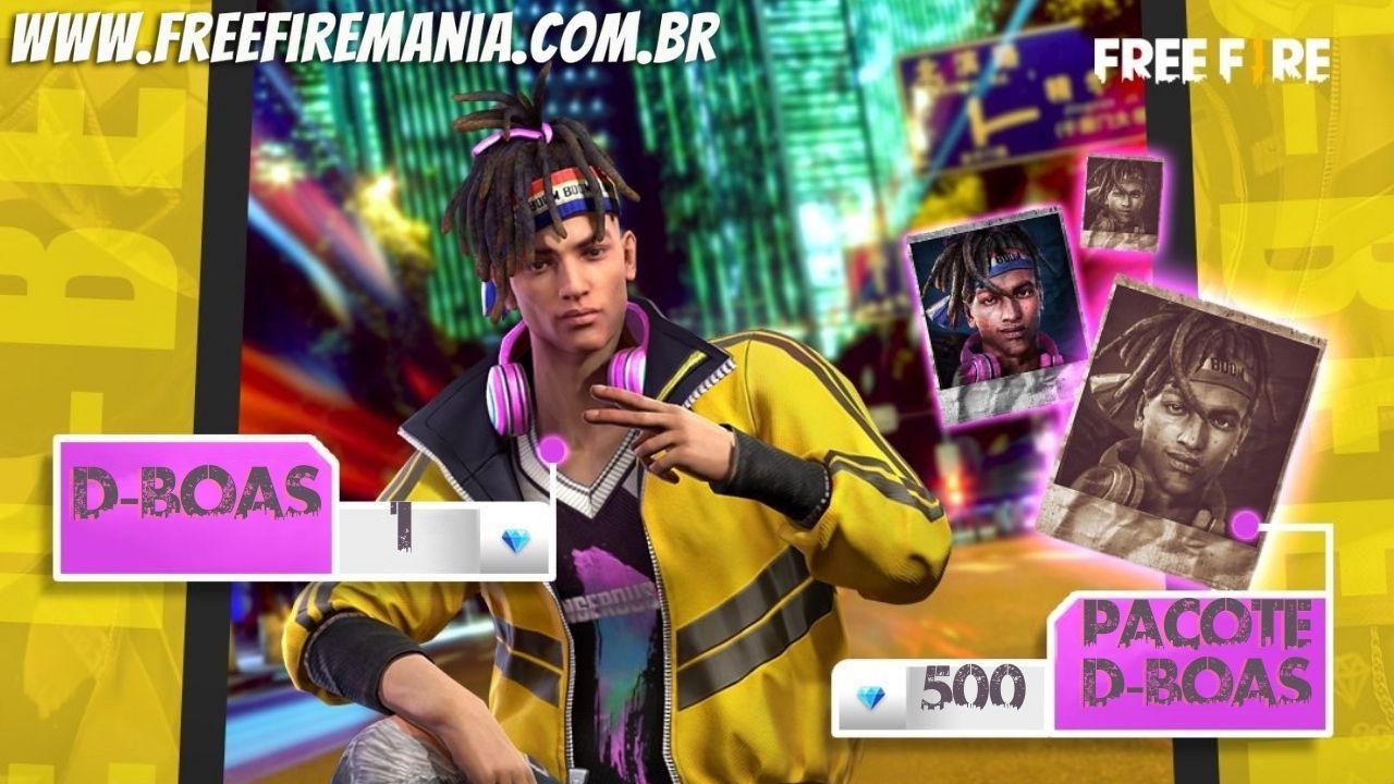 Novo Personagem Free Fire: D-Boas chega em evento de recarga por 1 diamante, veja como conseguir
