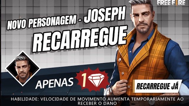 Novo Personagem Joseph por Apenas 1 Diamante