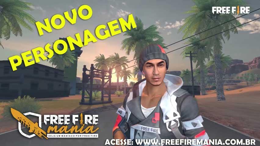 Vazou! Novo Personagem Jota no Free Fire