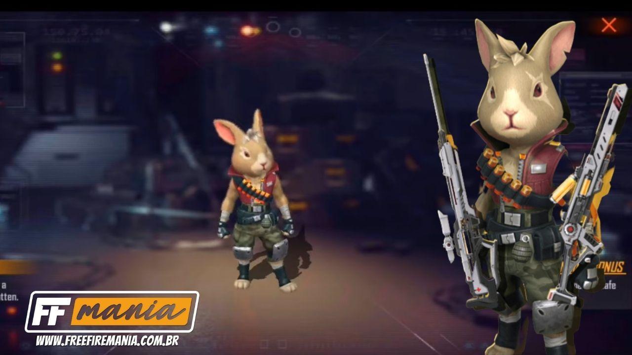 Novo pet Free Fire: Agente Hop é um coelho que dá vida ao personagem, confira habilidade