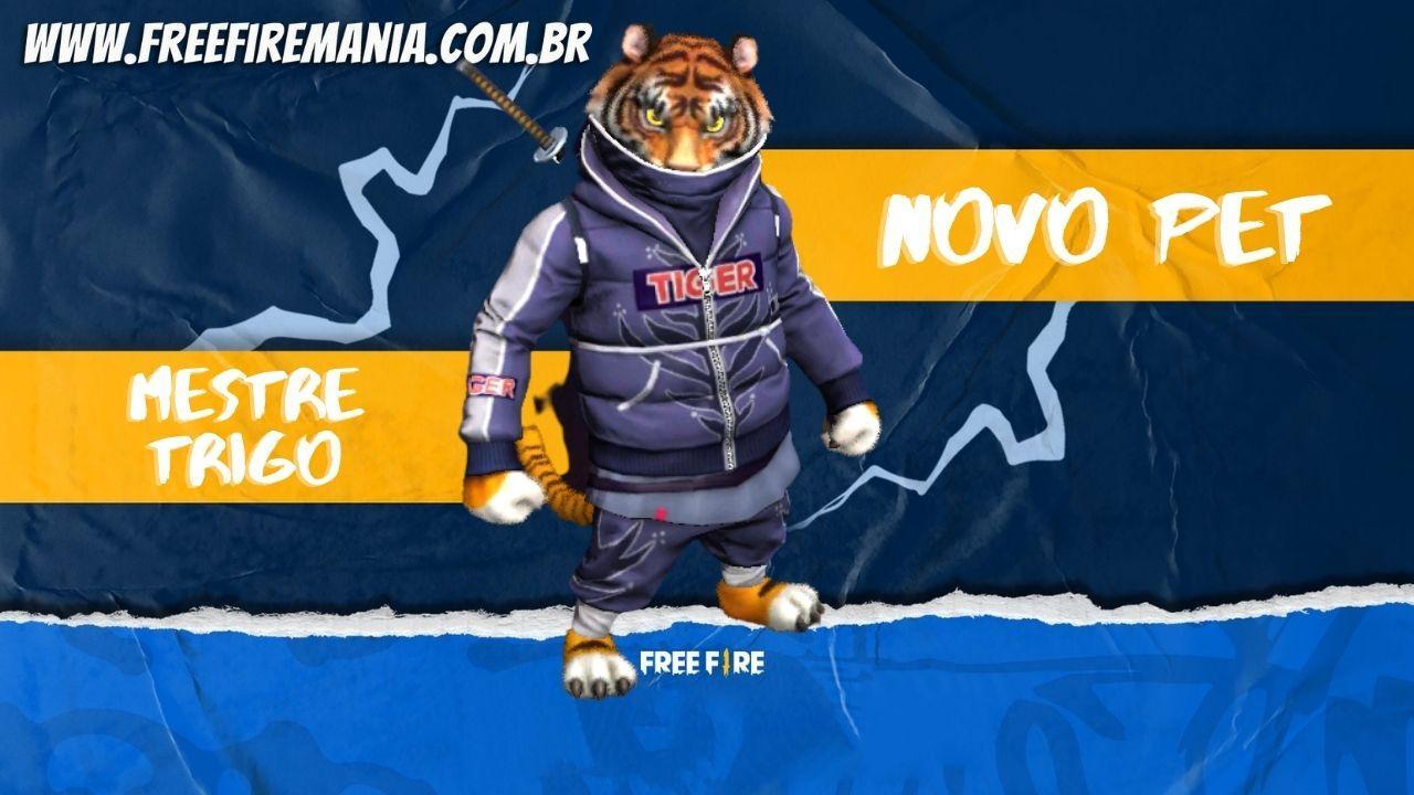 Novo Pet Free Fire: chamado de Mestre Trigo, confira a habilidade do Tigre