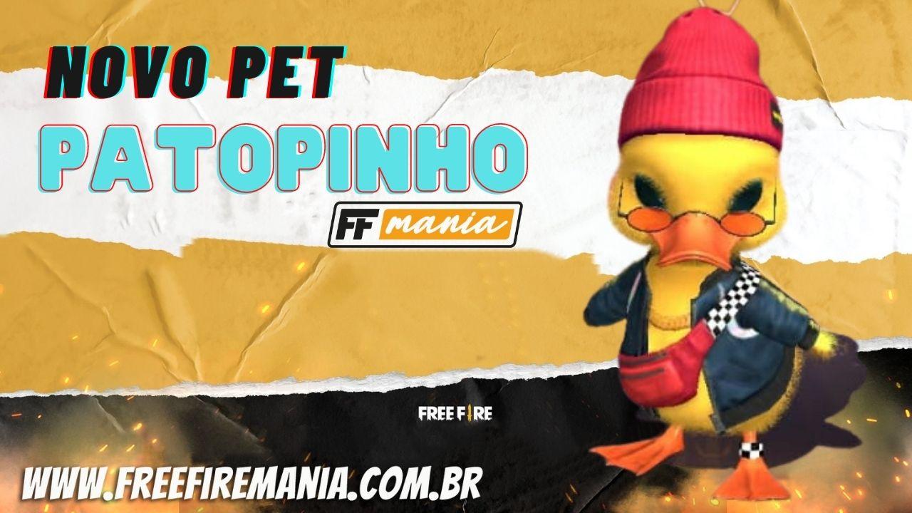 Novo Pet Free Fire: Pato PaTopinho chega na atualização de Junho 2021, confira habilidade