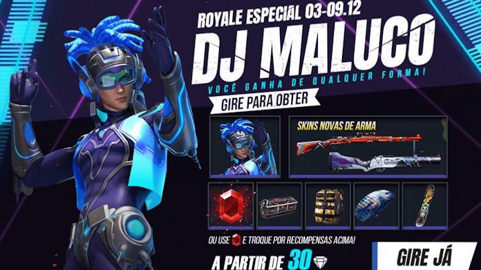 Novo Royale Especial com o DJ Maluco no Free Fire