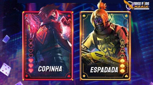 Novos pacotes com as skins Espadada e Copinha chegam ao Free Fire