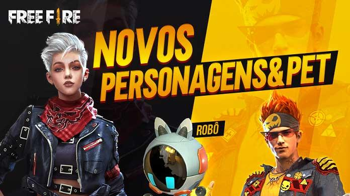 Novos Personagens Angela e Alvaro no Free Fire