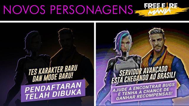 Novos Personagens na Atualização de Agosto