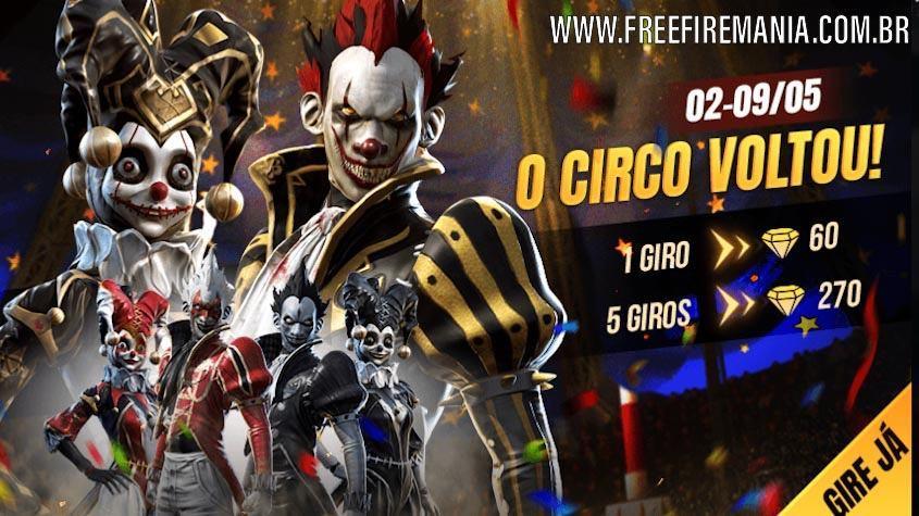 O Circo Voltou! Incubadora dos Palhaços retorna ao Free Fire
