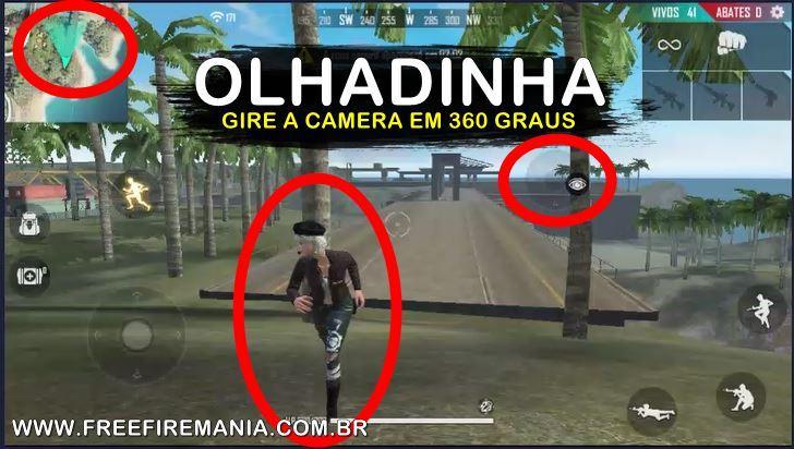 Olhadinha: opsi kamera baru memungkinkan Anda melihat peta dalam 360º di Free Fire