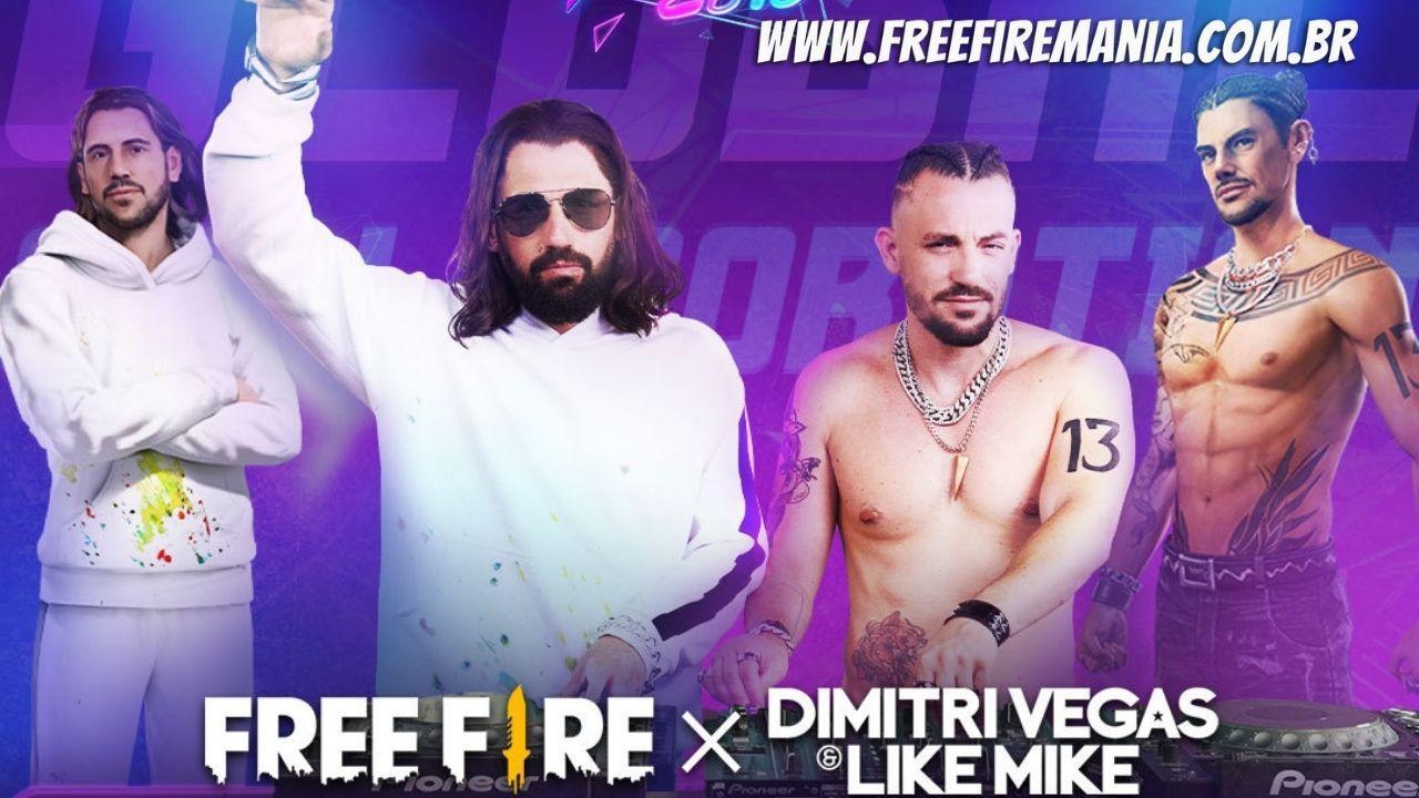 Os DJs Dimitri Vegas e Like Mike lideram as comemorações do 4º aniversário do Garena Free Fire