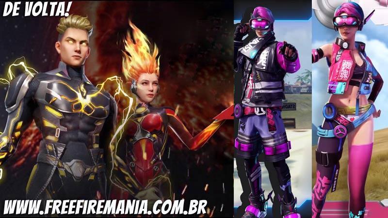Os pacotes com as skins mais raras do passado estão de volta ao Free Fire!