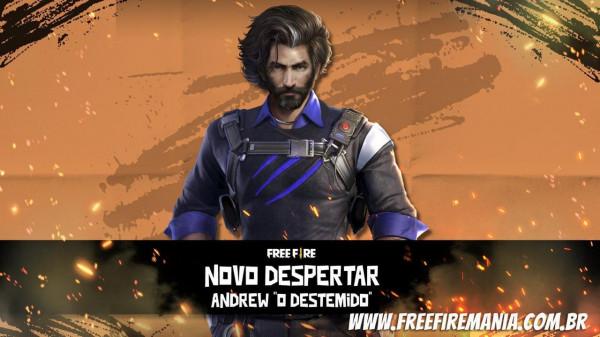 Os personagens do Free Fire estão ficando forte e o despertar do Andrew irá provar isso!