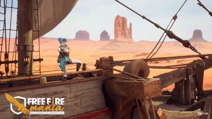 Os Piratas no Novo Mapa do Deserto no Free Fire