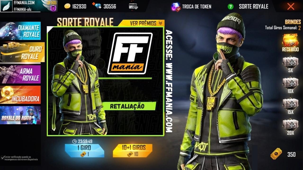 Gold Royale Free Fire Desember 2020: paket Pembalasan baru di APK OB25