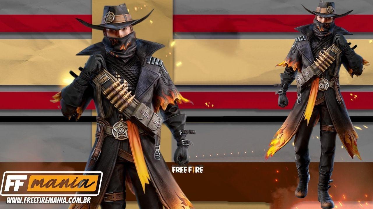 Pacote Caubói de Fogo Free Fire chega disponível no Escolha Royale FF