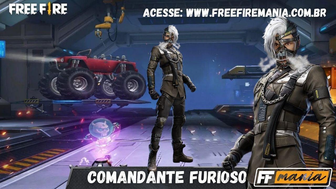 Pacote Comandante Furioso chega ao Free Fire no Escolha Royale