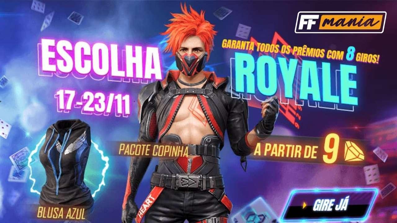 Pacote Copinha FF está disponível no Escolha Royale