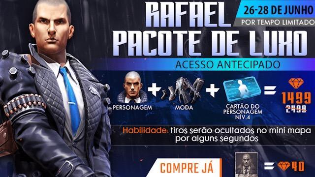 Pacote de Luxo: Novo Personagem Rafael
