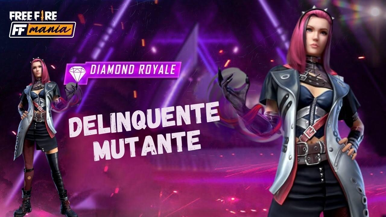 Pacote Delinquente Mutante é o novo Diamante Royale do Free Fire