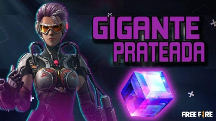 Pacote Gigante Prateada é o Próximo Cubo Mágico no Free Fire!