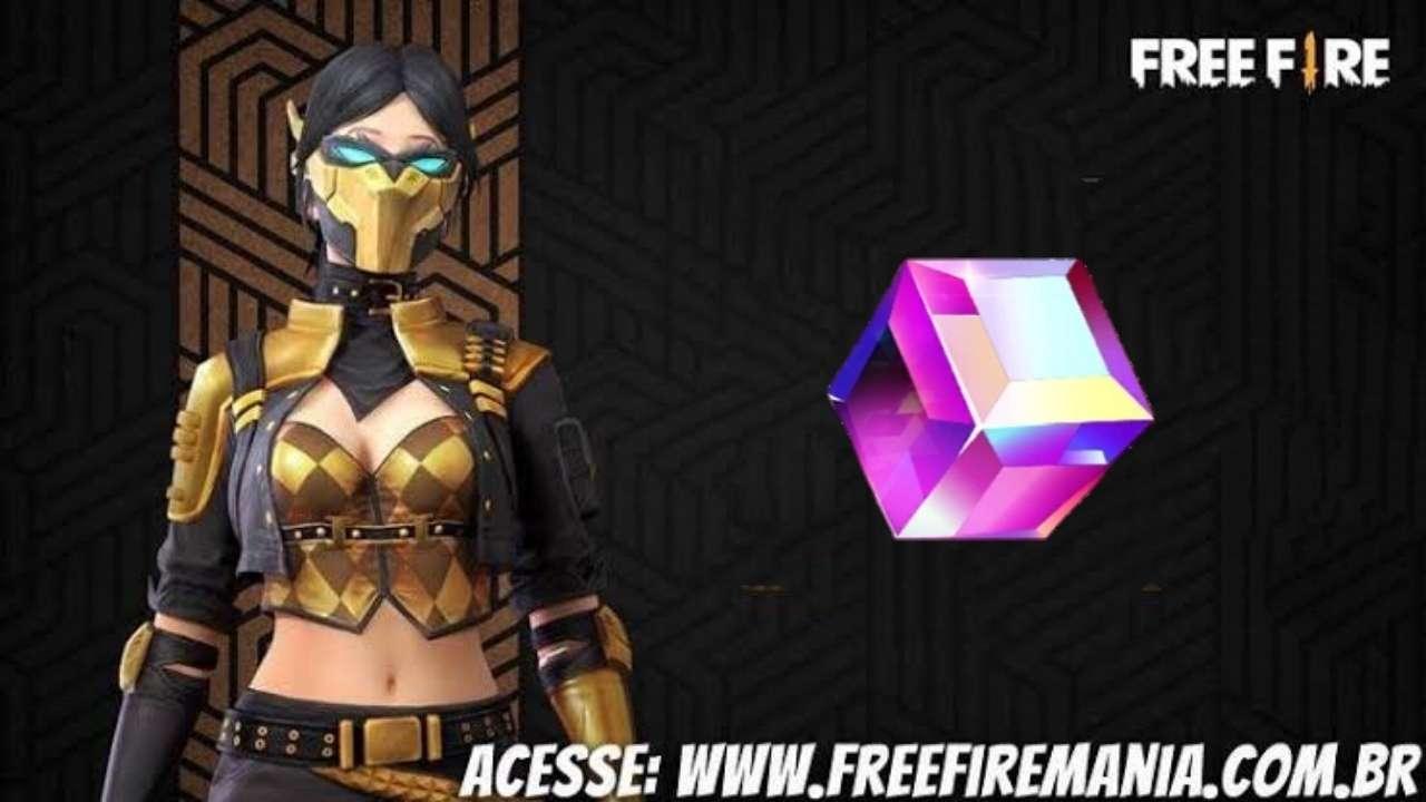 Pacote Réia Free Fire é a próxima skin do Cubo Mágico