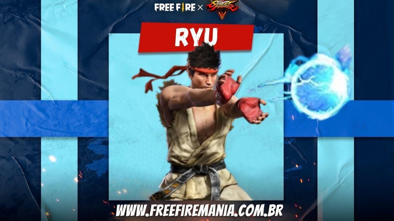 Pacote Ryu, Emote e Granada Hadouken e chegam ao Free Fire no evento Torre de Tokens